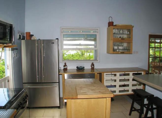 Shared Kitchen, but you have your own fridge in the Loft