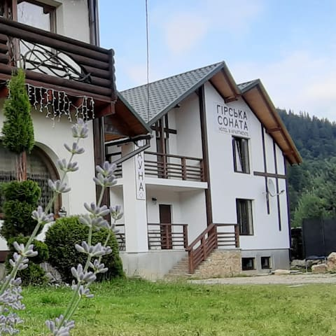 Girska Sonata Apartments in Carpathian mountains.