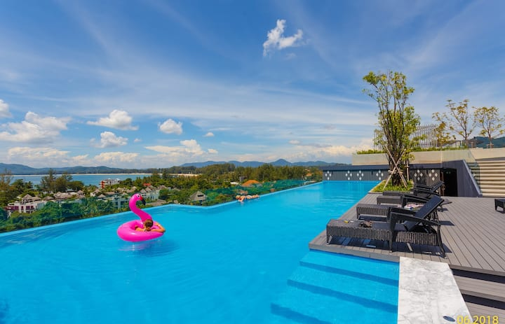 Lovely new apartment, Pool on the roof! ❤️ Surin Beach (319)
