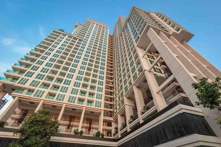 芭提雅City Garden Tower一居室高档家庭房,距步行街1公里,不临街超安静。