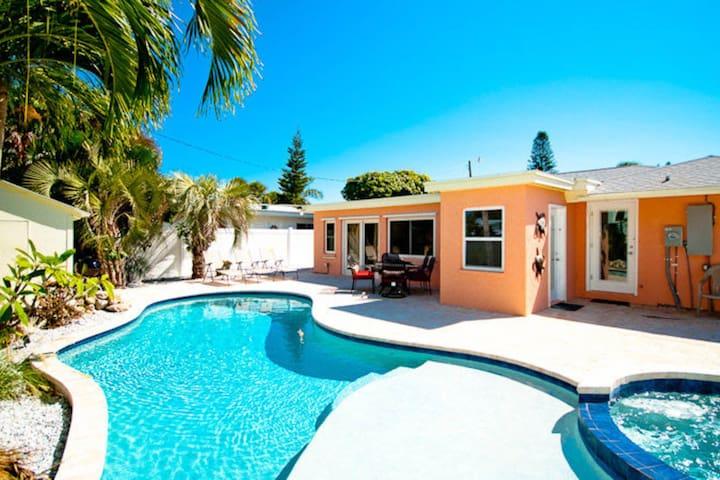 Dog-friendly seaside home w/ private pool & spa - great location near beach
