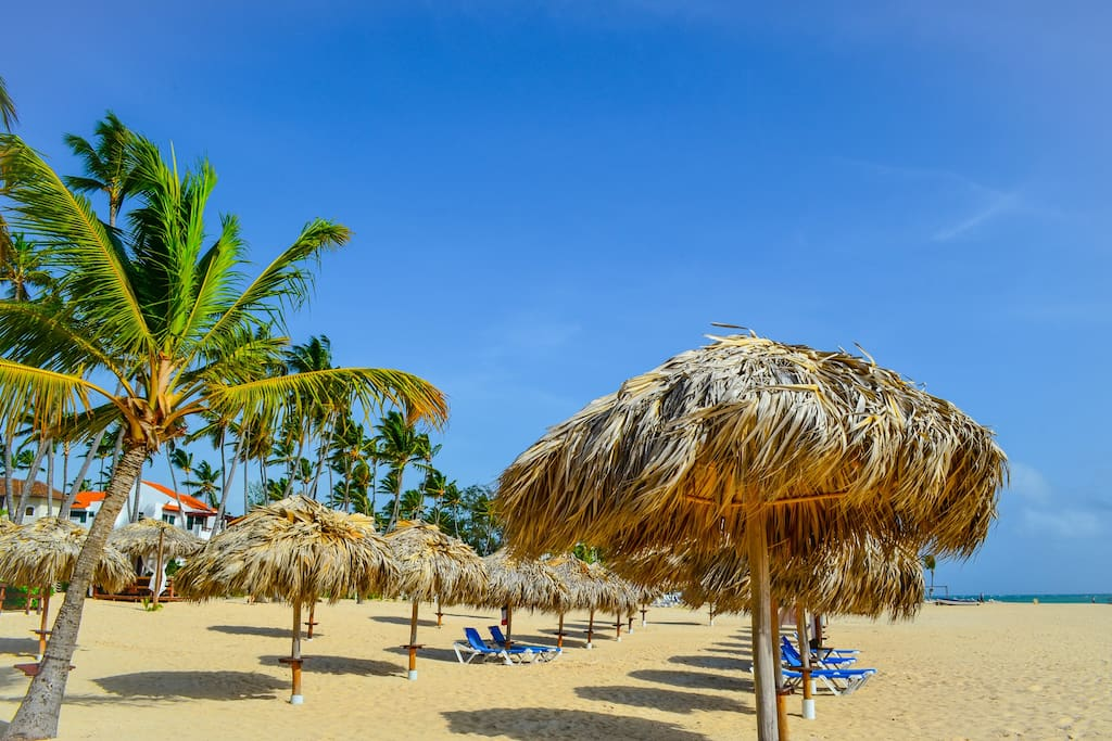 Punta Cana, Bavaro - the private, white sand beach of our residence