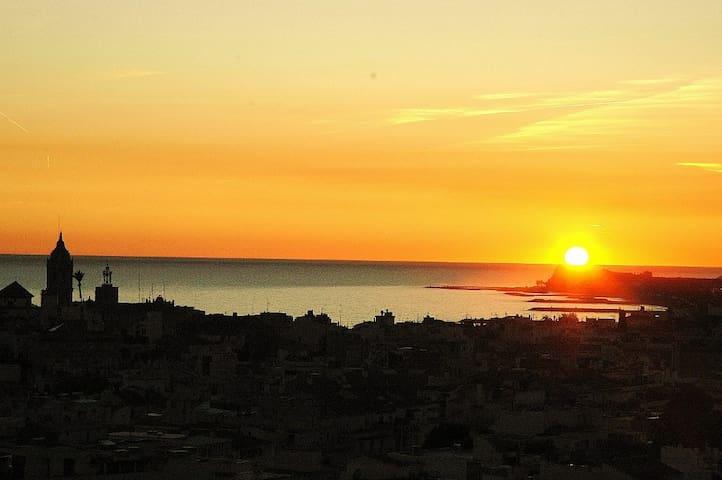 Puesta de sol desde el apartamento