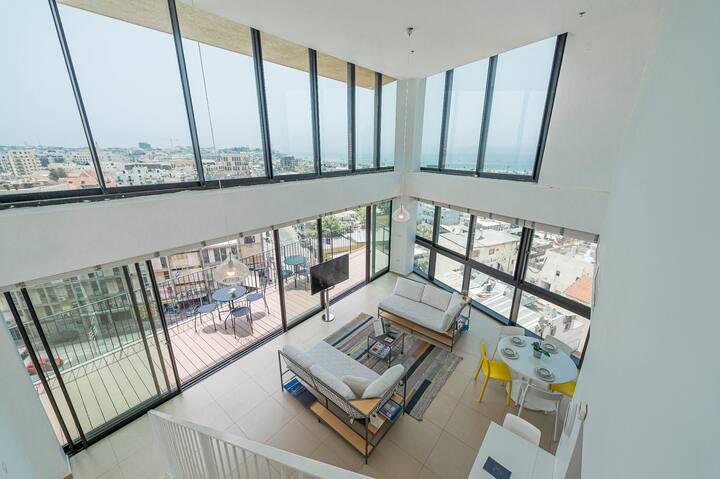 Luxury Neve Tsedek 3BR,Pool,Gym,Parking top floor