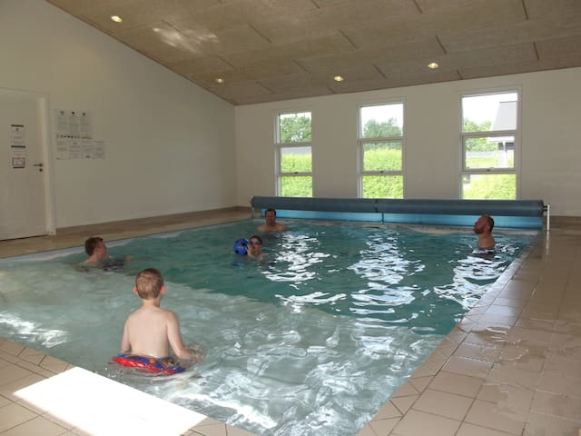 The pool in the shared house