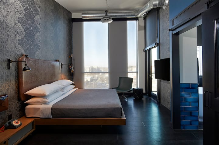 Suite at Moxy Uptown Hotel (Exclusive to Airbnb)