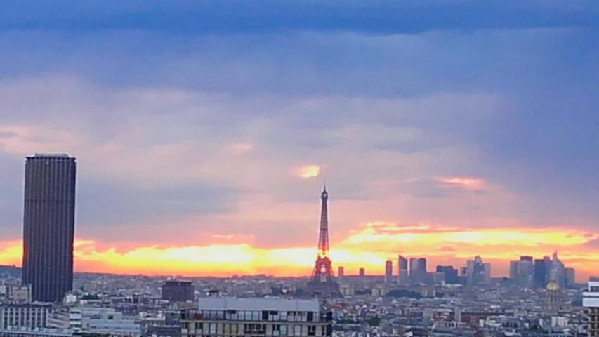 view on the Eiffel Tower - Paris-13E-Arrondissement - Byt