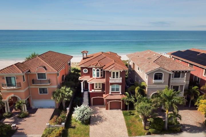 Gulf-Front Estate w/ Pool & Direct Beach Access