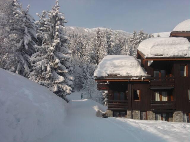 Magnifique studio ensoleillé ski aux pieds - Les Avanchers-Valmorel - Byt