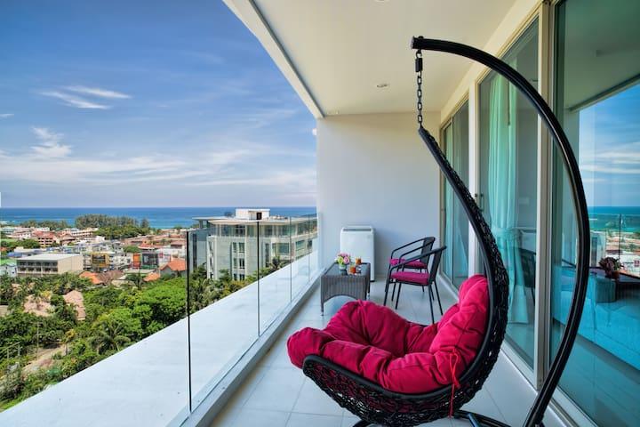 Impressive Seaview Apartment 80sq.m.@ Karon - 800м