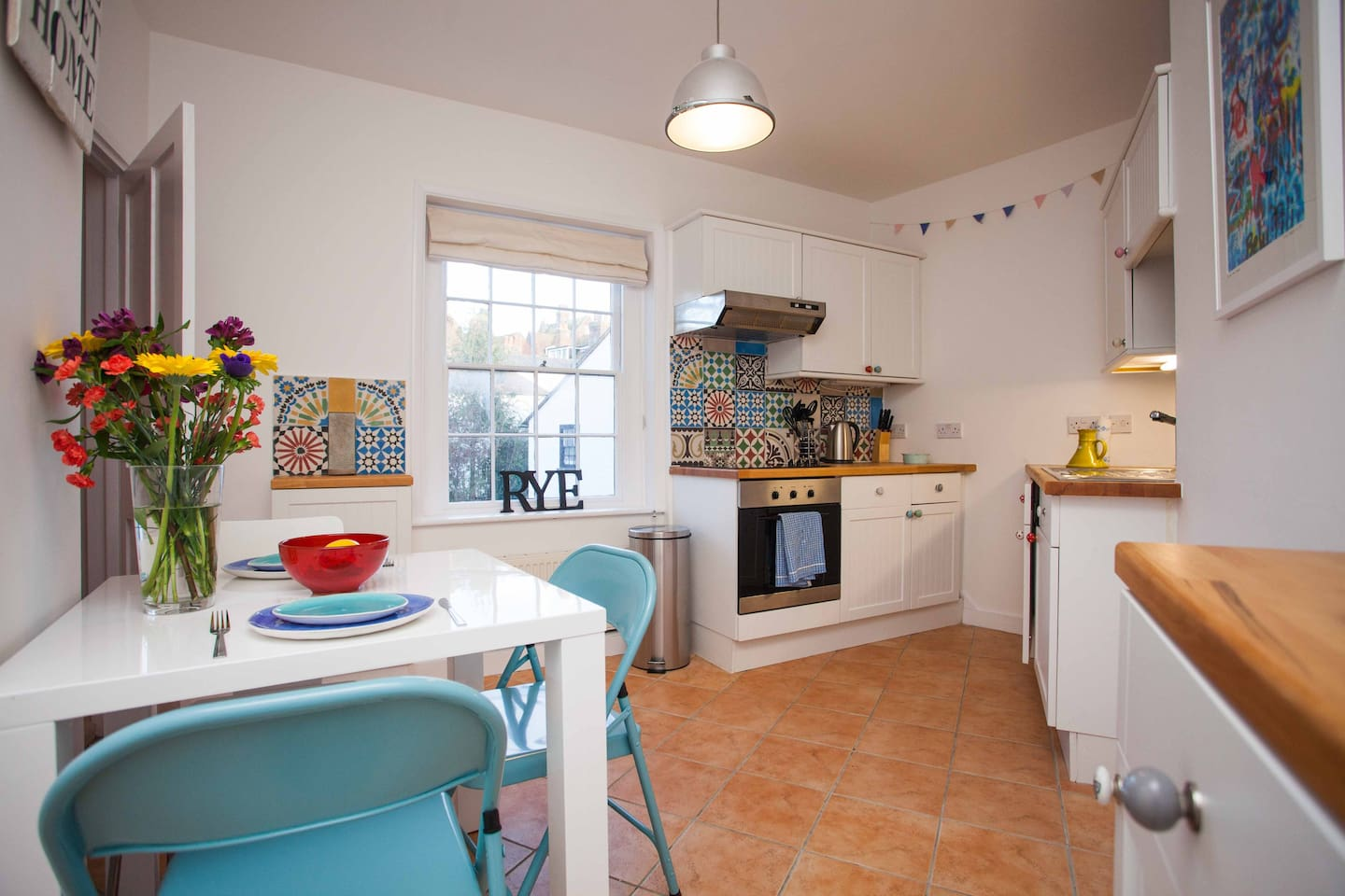 Beautiful open plan kitchen, fully equipped to the highest standard