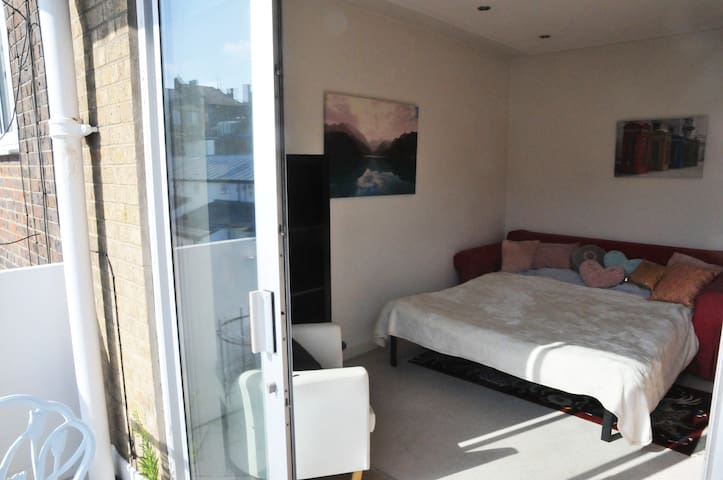 Large Double Bedroom with Private Balcony, Chelsea