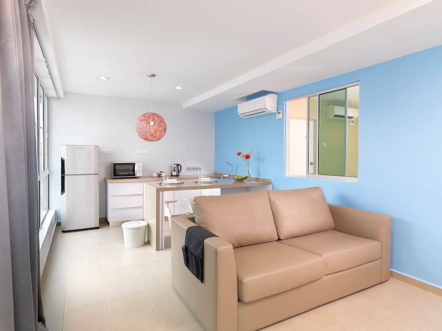 Living hall come with sofa bed