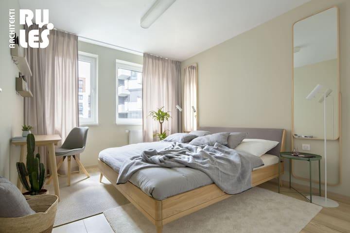 Bedroom (c) RULES Architekti (www.rules.sk), Tomáš Manina - autor interiéru a fotografií