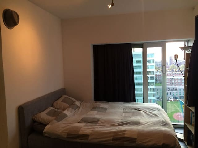 2nd bedroom with a Queen Size double bed and an extra single bed