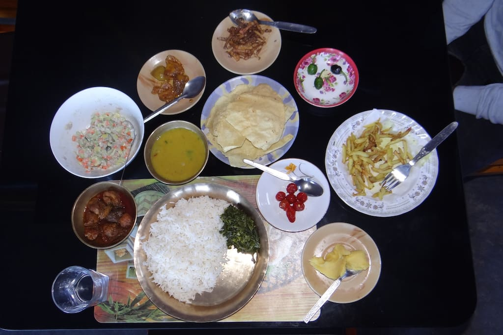 Food Served at the Homestay