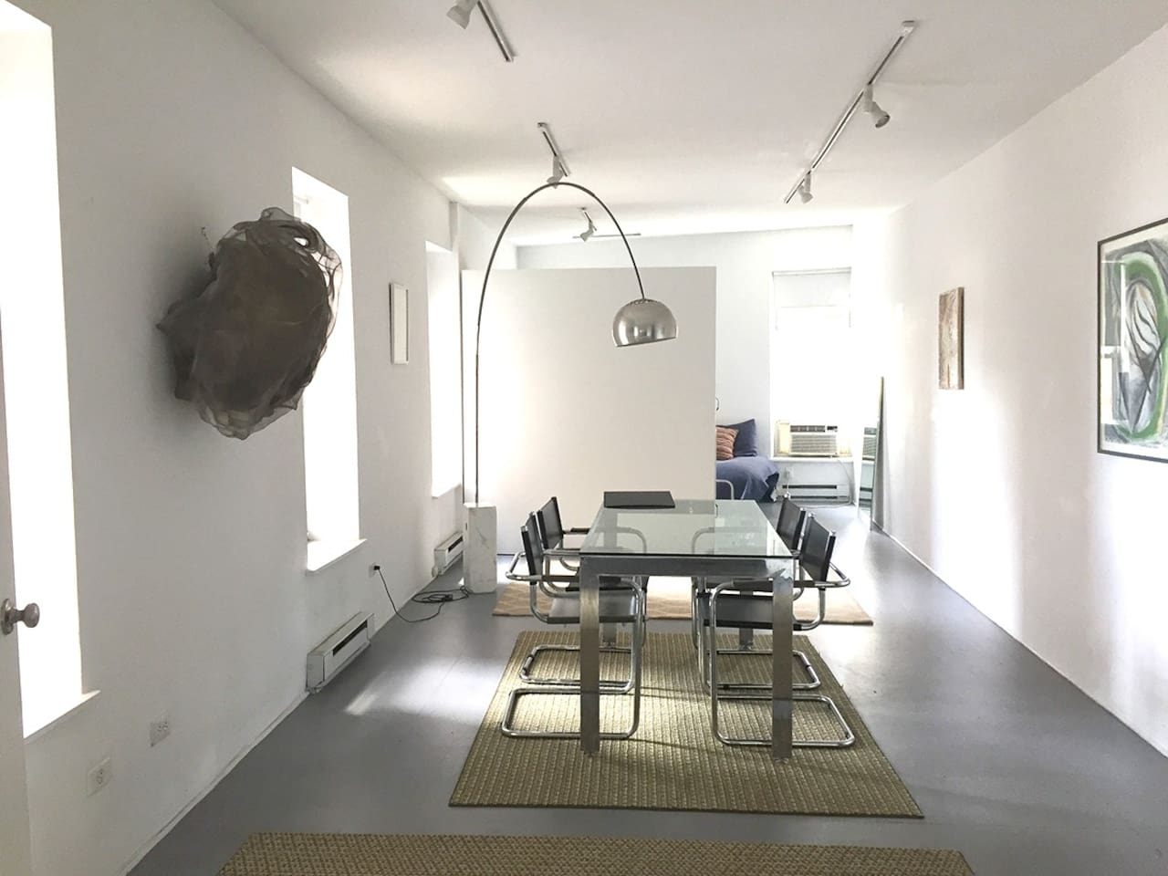 The Dining Living Room With Modernist Stainless Still And Glass Stream Lined Furniture