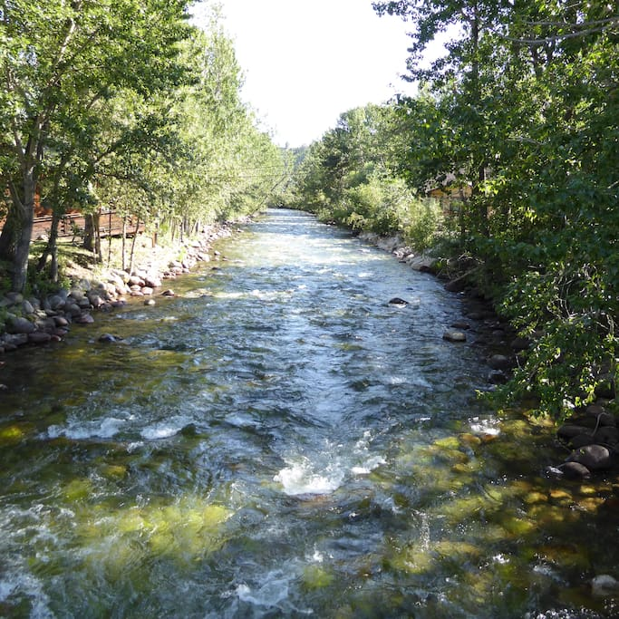 Rock Creek is great for fishing, or just relaxing by the creek!