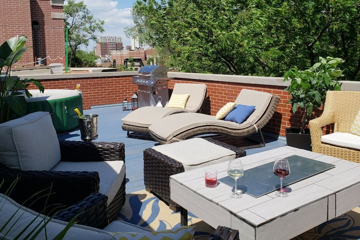 Hotelier Host - Wrigley/Lakeview. Pvt Roof & Bath