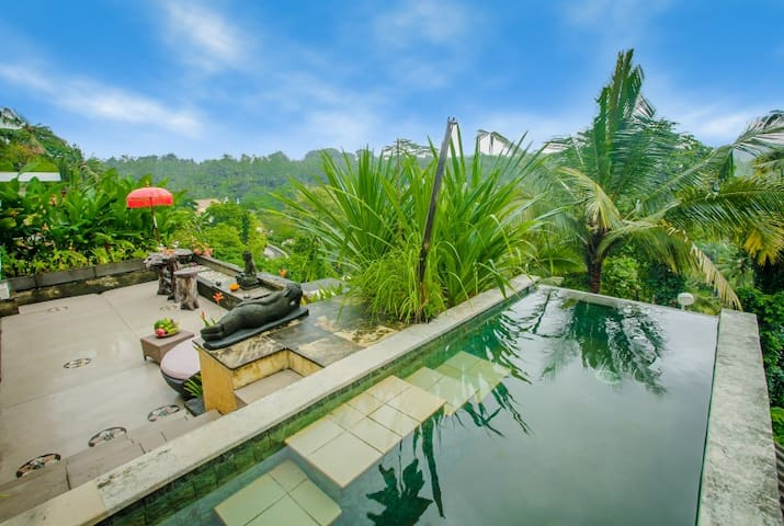 Royal Private Pool Villa 1 with stunning view - Ubud - Flat