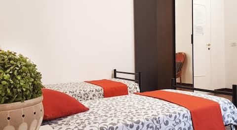 Room 2,3,4 pax near Coliseum &TERMINI, shared WC