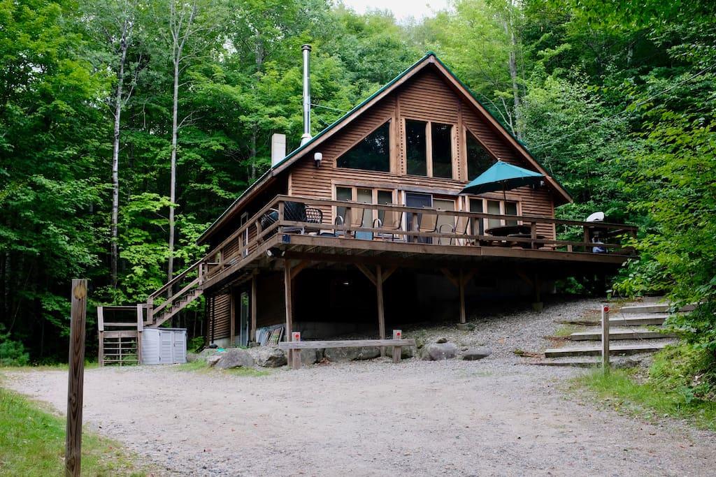 Caldon cabin waterville estates log home getaway Log homes in new hampshire