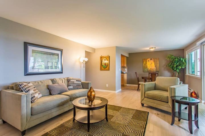 the Bay View, best area, no stairs, hardwood floors, balcony