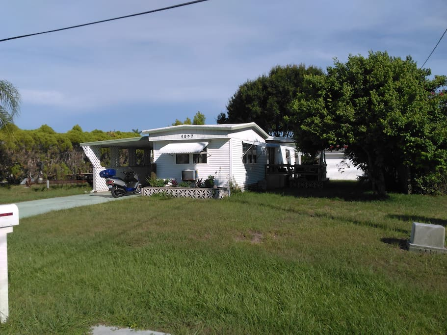 The house. Only 100 feet from away from the canal water.