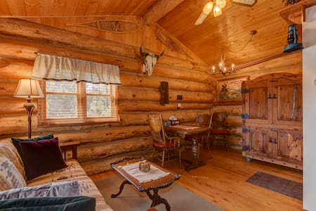 Cozy, Quiet & Unique Log Cabin-4 mi to Downtown