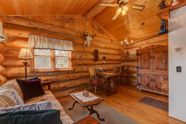 Cozy, Quiet & Unique Log Cabin-4 mi to Downtown
