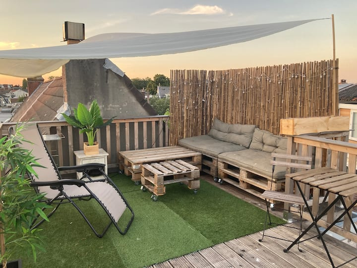 Spacious & artistic house in Haarlem with terrace