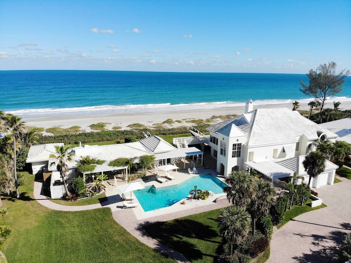 Two-Home Direct Oceanfront Family Vacation Estate