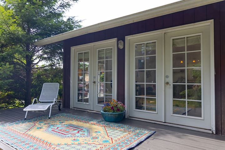 A deck for yoga or relaxing with a favorite book.