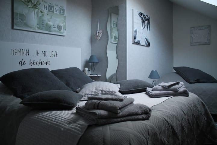 1 chambre privée dans résidence. PDJ inclus