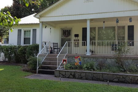 City Cottage Charm with peaceful front Porch