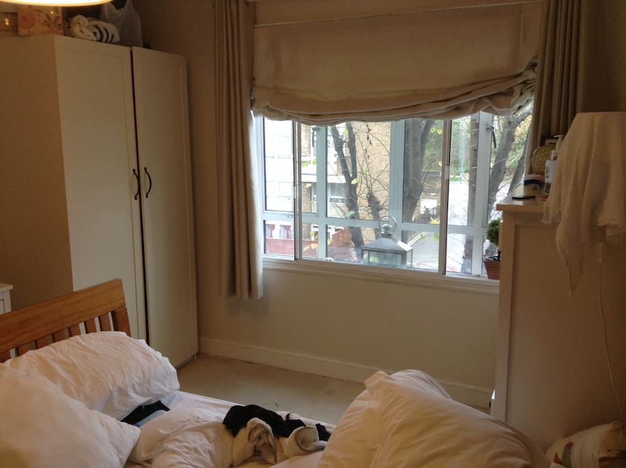 large triple glazed windows allowing lots of natural light in.
