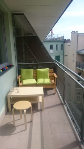 balcony is situated into the yard