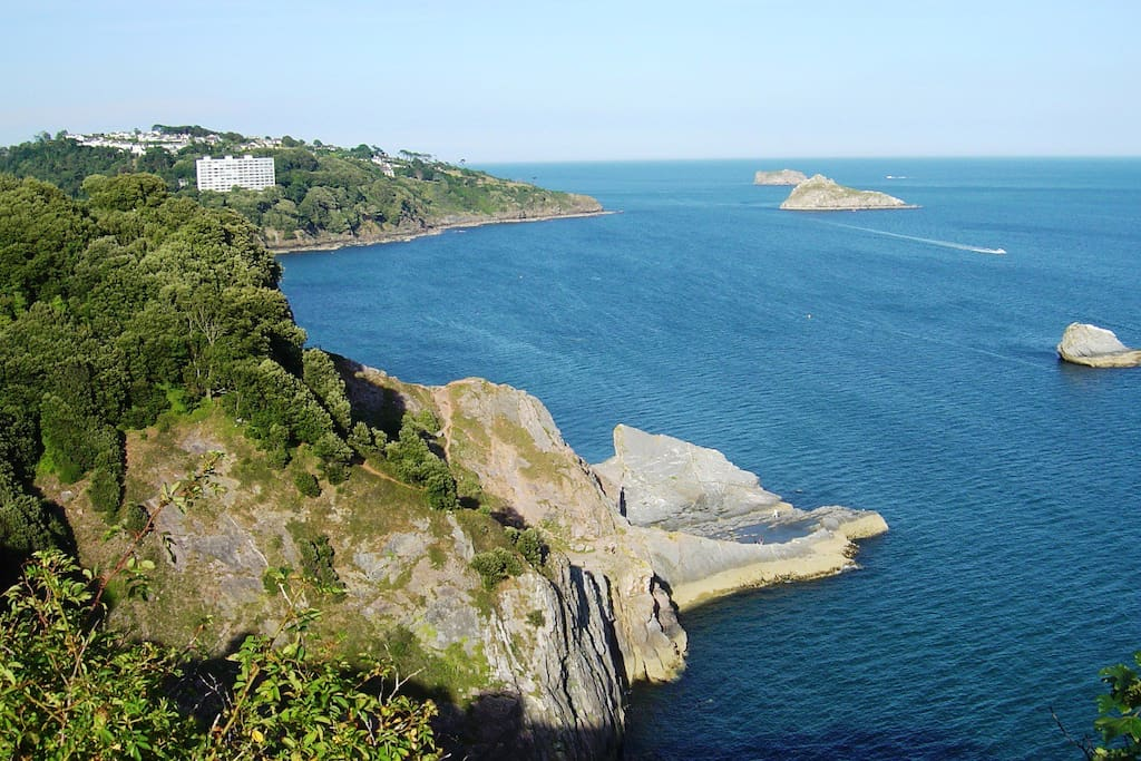 """The view from """"Daddyhole Plain"""" overlooking Torbay, an area of outstanding natural beaty"""