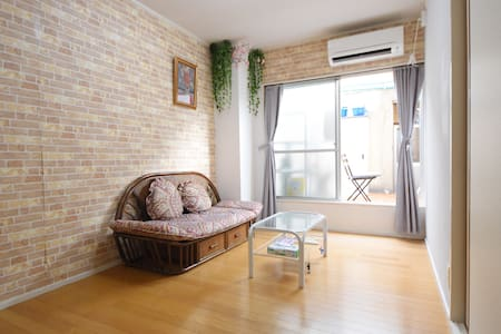 5 min walk to Deer Park: Comfy two rooms for 6ppl - 奈良市