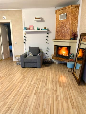 Cosy apartment with a big space and garden