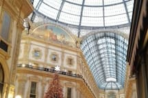 Vittorio Emanuele Gallery with Prada and other top fashion shops