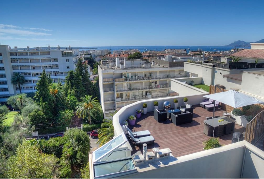 Cannes centre penthouse roof garden appartements - Appartement avec vue clifton aa interiors ...
