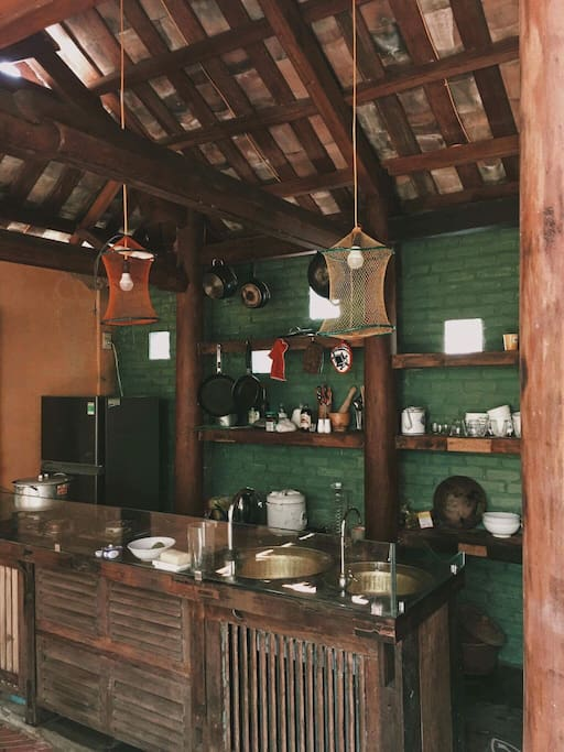 Our outdoor kitchen, a perfect place for you to make your own food with love. That's all we wish :)