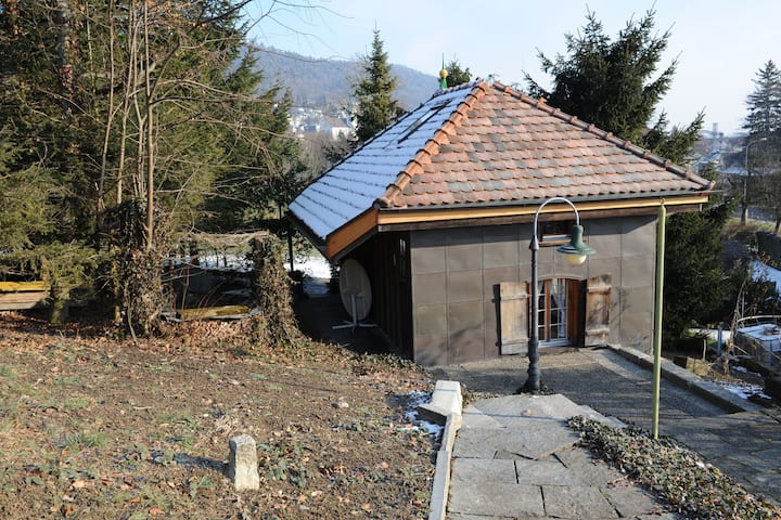 A chalet on delightful, vineyard covered hills, suitable for 2 people.
