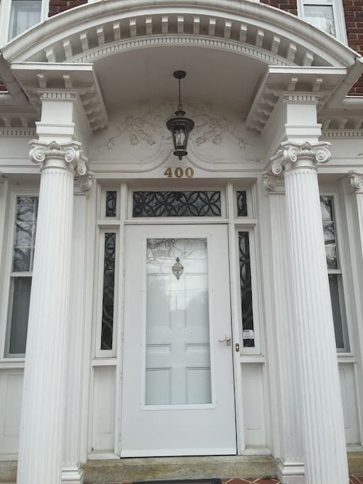 ... to the imposing front door, we welcome you to our home.
