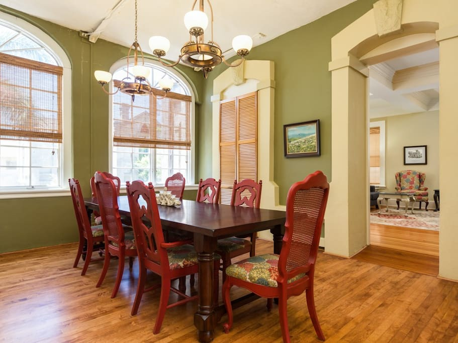 Enjoy family meals in this formal dining room with seating for 8.