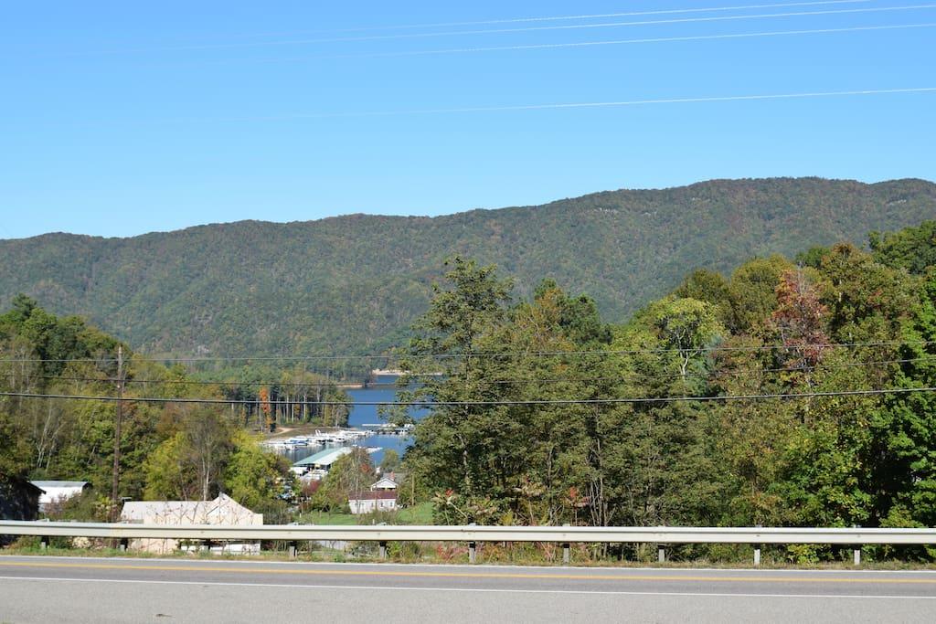 View of Watauga Lake & Fish Springs Marina from Cottage