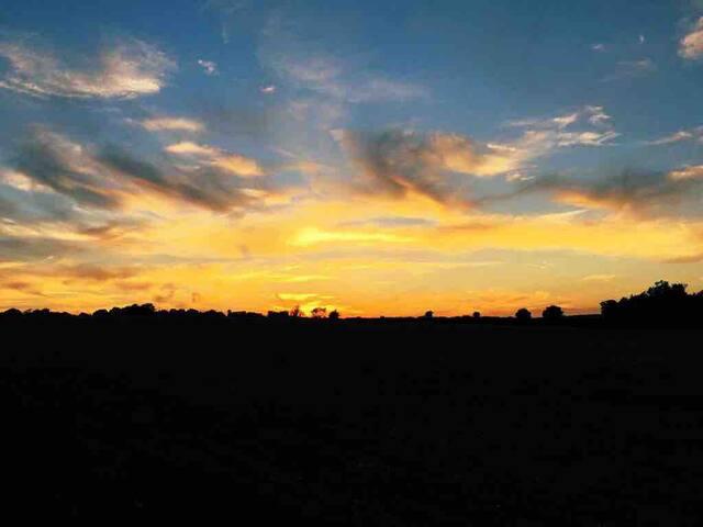 A beautiful Suffolk sunset