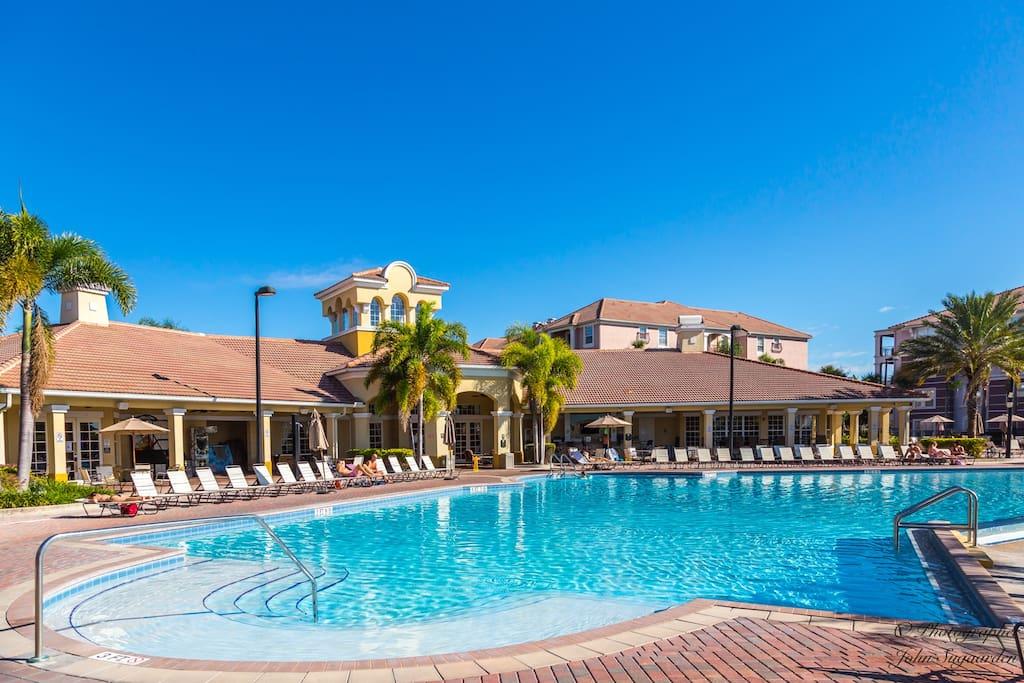 Sparkling resort pool