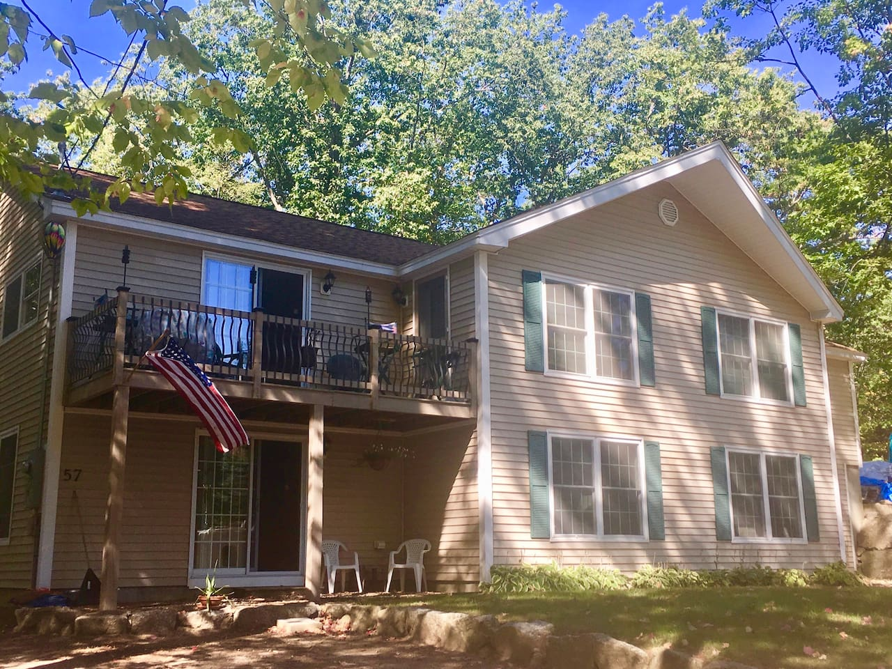 Warm inviting single family home with in-law suite on lower level.